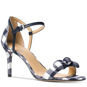 Michael Kors Pippa Gingham Dress Sandals